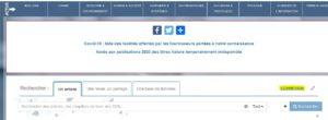 Copie d'écran de la page de connexion de BibCNRS